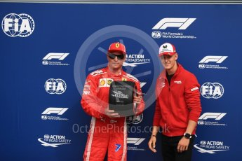 World © Octane Photographic Ltd. Formula 1 – Italian GP - Qualifying. Scuderia Ferrari SF71-H – Kimi Raikkonen and Mick Schumacher. Autodromo Nazionale di Monza, Monza, Italy. Saturday 1st September 2018.