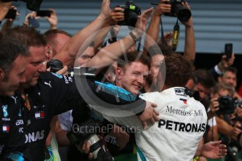World © Octane Photographic Ltd. Formula 1 – Italian GP - Race - Podium. Mercedes AMG Petronas Motorsport AMG F1 W09 EQ Power+ - Lewis Hamilton. Autodromo Nazionale di Monza, Monza, Italy. Sunday 2nd September 2018.