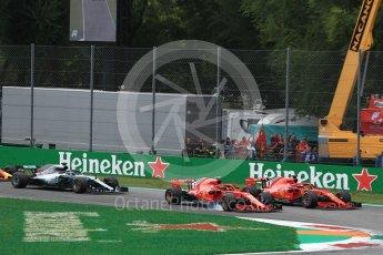 World © Octane Photographic Ltd. Formula 1 – Italian GP - Race. Scuderia Ferrari SF71-H – Kimi Raikkonen and Sebastian Vettel. Autodromo Nazionale di Monza, Monza, Italy. Sunday 2nd September 2018.