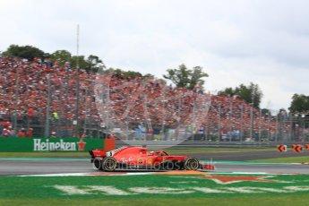World © Octane Photographic Ltd. Formula 1 – Italian GP - Race. Scuderia Ferrari SF71-H – Sebastian Vettel. Autodromo Nazionale di Monza, Monza, Italy. Sunday 2nd September 2018.