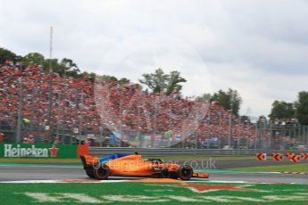 World © Octane Photographic Ltd. Formula 1 – Italian GP - Race. McLaren MCL33 – Stoffel Vandoorne. Autodromo Nazionale di Monza, Monza, Italy. Sunday 2nd September 2018.