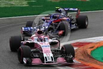 World © Octane Photographic Ltd. Formula 1 – Italian GP - Race. Racing Point Force India VJM11 - Sergio Perez. Autodromo Nazionale di Monza, Monza, Italy. Sunday 2nd September 2018.