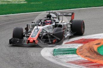 World © Octane Photographic Ltd. Formula 1 – Italian GP - Race. Haas F1 Team VF-18 – Romain Grosjean. Autodromo Nazionale di Monza, Monza, Italy. Sunday 2nd September 2018.