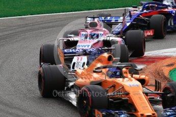 World © Octane Photographic Ltd. Formula 1 – Italian GP - Race. Racing Point Force India VJM11 - Sergio Perez. Autodromo Nazionale di Monza, Monza, Italy. Sunday 2nd September 2018.