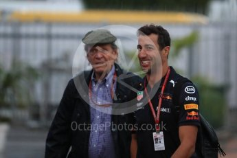 World © Octane Photographic Ltd. Formula 1 – Italian GP - Paddock. Aston Martin Red Bull Racing TAG Heuer RB14 – Daniel Ricciardo. Autodromo Nazionale di Monza, Monza, Italy. Friday 31st August 2018.