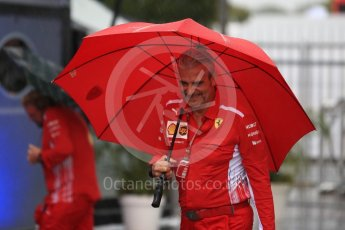 World © Octane Photographic Ltd. Formula 1 - Italian GP - Paddock. Maurizio Arrivabene – Managing Director and Team Principal of Scuderia Ferrari. Autodromo Nazionale di Monza, Monza, Italy. Friday 31st August 2018.