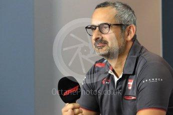 World © Octane Photographic Ltd. Formula 1 - Italian GP - Paddock. Ben Agathangelou – Aerodynamics engineer of Haas F1 Team. Autodromo Nazionale di Monza, Monza, Italy. Friday 31st August 2018.