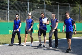 World © Octane Photographic Ltd. Formula 1 – Italian GP - Track Walk. Scuderia Toro Rosso STR13 – Pierre Gasly. Autodromo Nazionale di Monza, Monza, Italy. Thursday 30th August 2018.