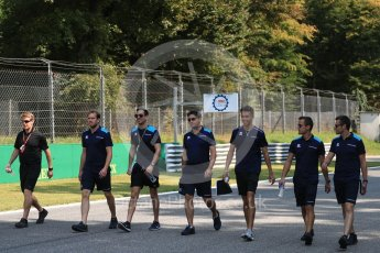 World © Octane Photographic Ltd. FIA Formula 2 (F2) – Italian GP - Track Walk. DAMS - Alexander Albon. Monza, Italy. Thursday 30th August 2018.
