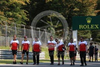 World © Octane Photographic Ltd. Formula 1 – Italian GP - Track Walk. Alfa Romeo Sauber F1 Team C37 – Marcus Ericsson. Autodromo Nazionale di Monza, Monza, Italy. Thursday 30th August 2018.