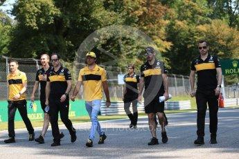 World © Octane Photographic Ltd. Formula 1 – Italian GP - Track Walk. Renault Sport F1 Team RS18 – Carlos Sainz. Autodromo Nazionale di Monza, Monza, Italy. Thursday 30th August 2018.