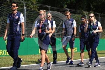 World © Octane Photographic Ltd. Formula 1 – Italian GP - Track Walk. Williams Martini Racing FW41 – Sergey Sirotkin. Autodromo Nazionale di Monza, Monza, Italy. Thursday 30th August 2018.