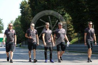 World © Octane Photographic Ltd. Formula 1 – Italian GP - Track Walk. Haas F1 Team VF-18 – Romain Grosjean. Autodromo Nazionale di Monza, Monza, Italy. Thursday 30th August 2018.