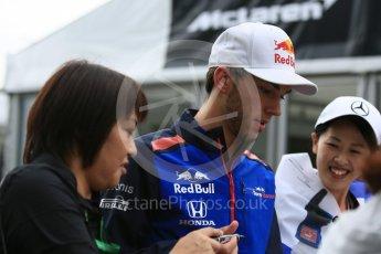 World © Octane Photographic Ltd. Formula 1 – Japanese GP - Paddock. Scuderia Toro Rosso STR13 – Pierre Gasly. Suzuka Circuit, Japan. Friday 5th October 2018.