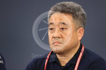 World © Octane Photographic Ltd. Formula 1 - Japanese GP - Friday FIA Team Press Conference. Masashi Yamamoto - General Manager of Honda's motorsport division. Suzuka Circuit, Japan. Friday 5th October 2018.