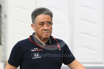 World © Octane Photographic Ltd. Formula 1 - Japanese GP - Paddock. Masashi Yamamoto - General Manager of Honda's motorsport division. Suzuka Circuit, Japan. Saturday 6th October 2018.