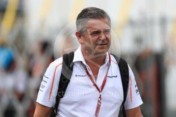 World © Octane Photographic Ltd. Formula 1 - Japanese GP - Paddock. Gil De Ferran - Sporting Director of McLaren. Suzuka Circuit, Japan. Saturday 6th October 2018.