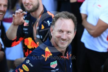 World © Octane Photographic Ltd. Formula 1 - Japanese GP - Parc Ferme. Christian Horner - Team Principal of Red Bull Racing. Suzuka Circuit, Japan. Sunday 7th October 2018.