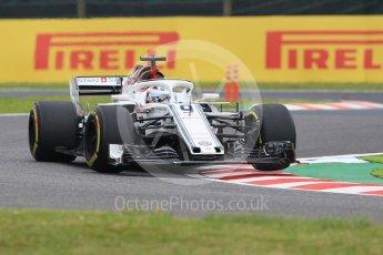 World © Octane Photographic Ltd. Formula 1 – Japanese GP - Practice 1. Alfa Romeo Sauber F1 Team C37 – Marcus Ericsson. Suzuka Circuit, Japan. Friday 5th October 2018.