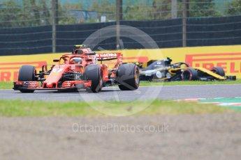 World © Octane Photographic Ltd. Formula 1 – Japanese GP - Practice 1. Scuderia Ferrari SF71-H – Kimi Raikkonen and Renault Sport F1 Team RS18 – Carlos Sainz. Suzuka Circuit, Japan. Friday 5th October 2018.
