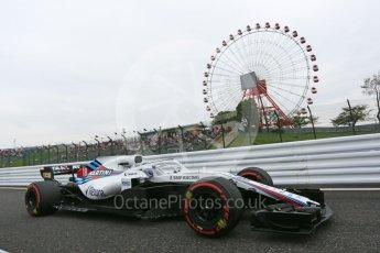 World © Octane Photographic Ltd. Formula 1 – Japanese GP - Practice 1. Williams Martini Racing FW41 – Lance Stroll. Suzuka Circuit, Japan. Friday 5th October 2018.