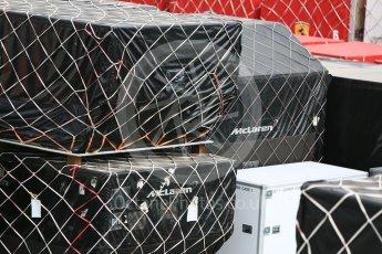 World © Octane Photographic Ltd. Formula 1 – Japanese GP - Practice 2. McLaren shipping crates. Suzuka Circuit, Japan. Friday 5th October 2018.
