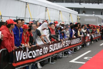 World © Octane Photographic Ltd. Formula 1 – Japanese GP - Practice 3. Fans wait for the drivers. Suzuka Circuit, Japan. Saturday 6th October 2018.