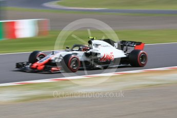 World © Octane Photographic Ltd. Formula 1 – Japanese GP - Practice 3. Haas F1 Team VF-18 – Kevin Magnussen. Suzuka Circuit, Japan. Saturday 6th October 2018.