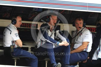 World © Octane Photographic Ltd. Formula 1 - Japanese GP - Practice 3. Rob Smedley – Head of Performance Engineering and Paddy Lowe - Chief Technical Officer. Suzuka Circuit, Japan. Saturday 6th October 2018.