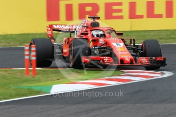 World © Octane Photographic Ltd. Formula 1 – Japanese GP - Qualifying. Scuderia Ferrari SF71-H – Sebastian Vettel. Suzuka Circuit, Japan. Saturday 6th October 2018.