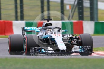 World © Octane Photographic Ltd. Formula 1 – Japanese GP – Qualifying. Mercedes AMG Petronas Motorsport AMG F1 W09 EQ Power+ - Lewis Hamilton. Suzuka Circuit, Japan. Saturday 6th October 2018.