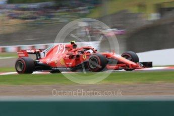 World © Octane Photographic Ltd. Formula 1 – Japanese GP - Qualifying. Scuderia Ferrari SF71-H – Kimi Raikkonen. Suzuka Circuit, Japan. Saturday 6th October 2018.