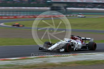 World © Octane Photographic Ltd. Formula 1 – Japanese GP - Qualifying. Alfa Romeo Sauber F1 Team C37 – Marcus Ericsson. Suzuka Circuit, Japan. Saturday 6th October 2018.