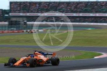 World © Octane Photographic Ltd. Formula 1 – Japanese GP - Qualifying. McLaren MCL33 – Fernando Alonso. Suzuka Circuit, Japan. Saturday 6th October 2018.