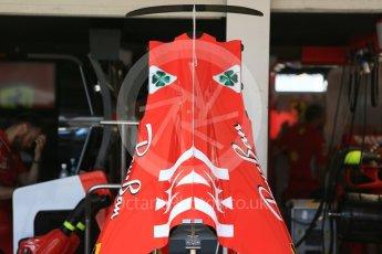 World © Octane Photographic Ltd. Formula 1 – Japanese GP - Pit Lane. Scuderia Ferrari SF71-H bodywork - race day setup. Suzuka Circuit, Japan. Sunday 7th October 2018.