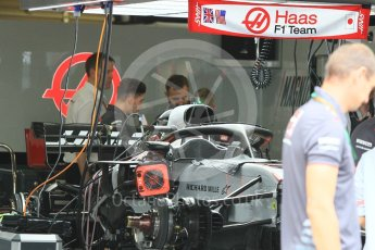 World © Octane Photographic Ltd. Formula 1 – Japanese GP - Pit Lane. Haas F1 Team VF-18. Suzuka Circuit, Japan. Thursday 4th October 2018.