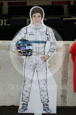 World © Octane Photographic Ltd. Formula 1 – Japanese GP - Pit Lane. Williams Martini Racing FW41 – Lance Stroll life sized card cutout. Suzuka Circuit, Japan. Thursday 4th October 2018.