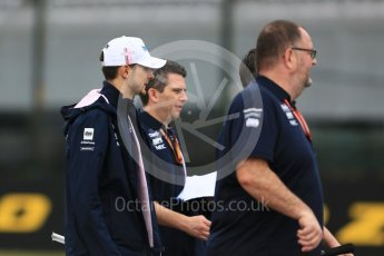 World © Octane Photographic Ltd. Formula 1 – Japanese GP - Track Walk. Racing Point Force India VJM11 - Esteban Ocon. Suzuka Circuit, Japan. Thursday 4th October 2018.