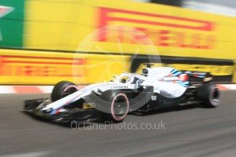 World © Octane Photographic Ltd. Formula 1 – Monaco GP - Practice 3. Williams Martini Racing FW41 – Lance Stroll. Monte-Carlo. Saturday 26th May 2018.