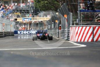 World © Octane Photographic Ltd. Formula 1 – Monaco GP - Practice 3. Scuderia Toro Rosso STR13 – Pierre Gasly. Monte-Carlo. Saturday 26th May 2018.