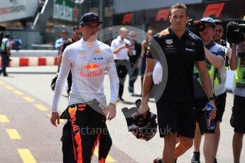World © Octane Photographic Ltd. Formula 1 – Monaco GP - Practice 3. Aston Martin Red Bull Racing TAG Heuer RB14 – Max Verstappen. Monte-Carlo. Saturday 26th May 2018.