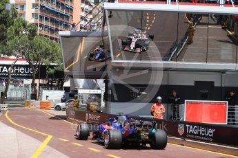 World © Octane Photographic Ltd. Formula 1 – Monaco GP - Practice 3. Scuderia Toro Rosso STR13 – Brendon Hartley. Monte-Carlo. Saturday 26th May 2018.