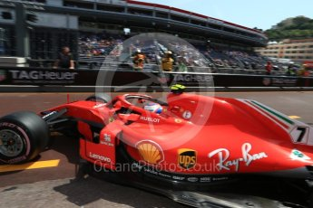 World © Octane Photographic Ltd. Formula 1 – Monaco GP - Practice 3. Scuderia Ferrari SF71-H – Kimi Raikkonen. Monte-Carlo. Saturday 26th May 2018.