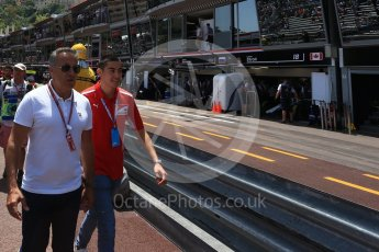 World © Octane Photographic Ltd. Formula 1 – Monaco GP - Practice 3. Giuliano Alesi and father Jean Alesi. Monte-Carlo. Saturday 26th May 2018.