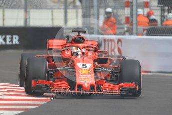 World © Octane Photographic Ltd. Formula 1 – Monaco GP - Practice 1. Scuderia Ferrari SF71-H – Sebastian Vettel. Monte-Carlo. Thursday 24th May 2018.