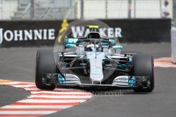 World © Octane Photographic Ltd. Formula 1 – Monaco GP - Practice 1. Mercedes AMG Petronas Motorsport AMG F1 W09 EQ Power+ - Valtteri Bottas. Monte-Carlo. Thursday 24th May 2018.