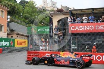 World © Octane Photographic Ltd. Formula 1 – Monaco GP - Practice 1. Aston Martin Red Bull Racing TAG Heuer RB14 – Max Verstappen. Monte-Carlo. Thursday 24th May 2018.