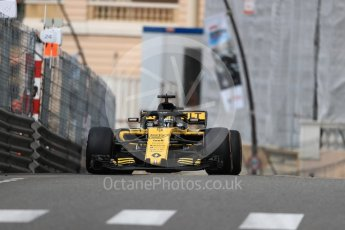 World © Octane Photographic Ltd. Formula 1 – Monaco GP - Practice 1. Renault Sport F1 Team RS18 – Nico Hulkenberg. Monte-Carlo. Thursday 24th May 2018.