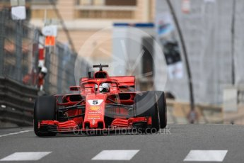 World © Octane Photographic Ltd. Formula 1 – Monaco GP - Practice 1. Scuderia Ferrari SF71-H – Sebastian Vettel. Monte-Carlo. Thursday 24th May 2018.