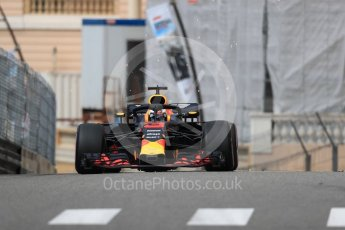 World © Octane Photographic Ltd. Formula 1 – Monaco GP - Practice 1. Aston Martin Red Bull Racing TAG Heuer RB14 – Daniel Ricciardo. Monte-Carlo. Thursday 24th May 2018.